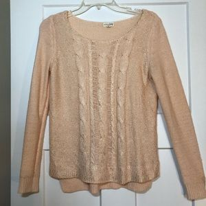 💕2 for $20💕 Madison Jules Blush & Gold Sweater